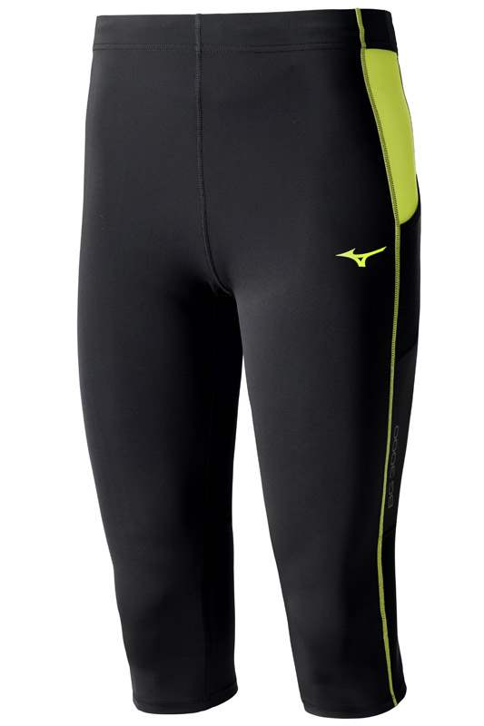 Mizuno BG3000 3/4 Tights Black/Yellow J2GB550493 M